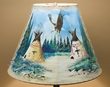 "Painted Leather Bell Lamp Shade 20"" -Eagle Village  (PL92)"