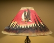 "Southwestern Leather Lamp Shade 22"" -Sunset Eagle  (pl5)"