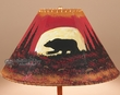 "Painted Leather Lamp Shade -Moon Lit Bear 16""  (PL9)"
