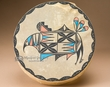 "Painted Native American Tigua Indian Drum 12"" -Rain Bird  (d44)"