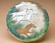 "Painted Native Drum 16"" -Horses (h4)"