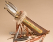 Painted Navajo Bear Hair Rawhide Quiver & Arrows