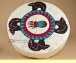 "Painted One Sided Indian Hand Drum 16""- Four Bears"