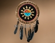"Native American Rawhide Shield 14"" -Sun Face  (S15)"