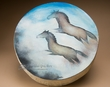 "Painted Shaman Drum 16"" -Wild Horses  (pd50)"