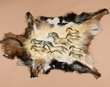 "Painted Hide for Western Decor 35""x28"" -Horses  (h35)"