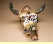Painted Steer Skull 17x20 -Cattle Drive  (PS2)
