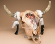 Painted Steer Skull 21x20 -Buffalo Dancer  (PS20)