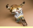 Painted Steer Skull 15x18 -Cattle Drive  (PS2)