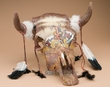 Painted Steer Skull -End Of The Trail 16x18  (ps4)