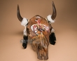Painted Steer Skull 14x19 -Native Prayer  (PS8)