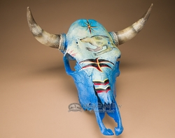 Painted Steer Skull -Spirit Bear  (PS17)