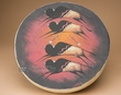"Painted Tarahumara Hand Drum 16"" -Buffalo  (pd55)"