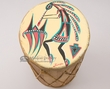 Painted Tarahumara Indian Drum 8x20 -Kokopelli