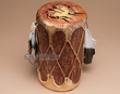 "Painted Tarahumara Log Drum 10""  -Kokopellis"