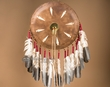 """Old Style Native American Leather Shield 15"""" -Pueblo  (9)"""