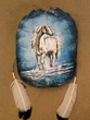 "Painted Turtle Shell Mandella 11""x13"" -White Stallion   (16)"