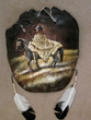 """Painted Turtle Shell Mandella 13""""x15"""" -Indian   (20)"""