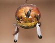 """Painted Turtle Shell Mandella 14""""x13"""" -American Indian   (21)"""