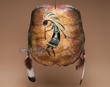 Painted Turtle Shell Mandella Shield -Kokopelli (8)
