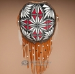 """Painted Turtle Shell Shield 11""""x12"""" -Acoma   (t28)"""
