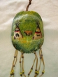 """Painted Turtle Shell Wall Hanging 5""""x7"""" -Indian Village   (34)"""