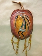 "Painted Turtle Shell Wall Hanging 5""x7"" -Kokopelli   (33)"