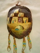 "Painted Turtle Shell Wall Hanging 5""x7"" -Pueblo   (35)"