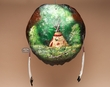 Painted Turtle Shell Wall Hanging -Teepee (4)