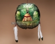 Painted Turtle Shell Wall Shield -Indian Teepee (6)