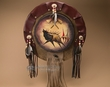 "Painted Wooden War Shield Mandella 22"" -Elk  (11)"