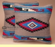 Pair of Southwestern Pillow Covers 18x18 -Jicarilla Pattern
