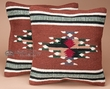 Pair Southwest Pattern Pillow Covers 18x18 Cherokee Style