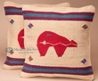 Pair Southwest Pillow Covers 18x18 -Fetish Bear