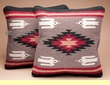 Pair Southwest Wool Pillow Covers 18x18 -Chaco