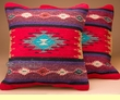 "Pair Southwest Old Style Pillow Covers 18""x18"" -Mimbres Style"