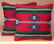 Pair Southwestern Pillow Covers 18x18 -Havasupai Pattern