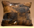 Patchwork Western Cowhide Pillow 12x18  (p57)