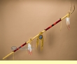 "Pueblo Indian Antler Medicine Staff 67"" -Gold Buckskin  (s97)"