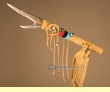 "Pueblo Indian Antler Medicine Stick 18"" -Gold Buckskin  (s98)"