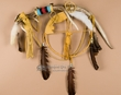"Pueblo Indian Beaded Elk Antler Medicine Wheel 26"" (p76)"