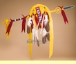 "Pueblo Indian Lance & Shield Set 42"" -Tigua  (L24)"