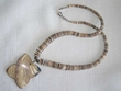 "Pueblo Indian Necklace -20"" Butterfly Shell (14)"
