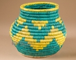 "Pueblo Indian Style Olla Basket 6.5"" (a34)"