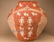 "Pueblo Indian Style Olla Basket 23.5""  (a56)"