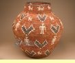 "Pueblo Indian Style Olla Basket 23""  (a56)"