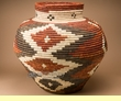 "Pueblo Indian Style Olla Basket 22.5""  (a56)"