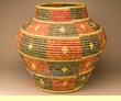 Pueblo Indian Style Olla Basket 22x21 (a58)