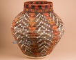 "Pueblo Indian Style Olla Basket 22""x22""  (a56)"