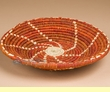 "Pueblo Indian Style Saucer Basket 8.5"" (a54)"